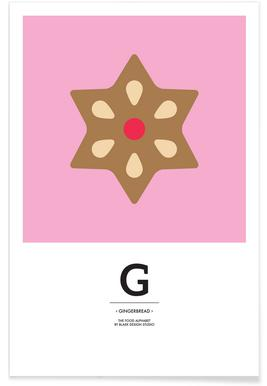 Food Alphabet Xmas Edition G -Poster