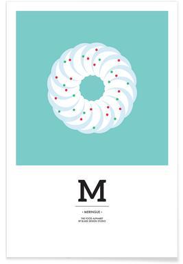 Food Alphabet Xmas Edition M -Poster