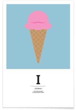 """The Food Alphabet"" - I like Ice Cream -Poster"