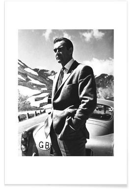 "Sean Connery ""Goldfinger"" 1964 - Premium Poster"