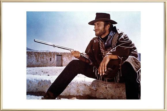 Clint Eastwood Poster in Aluminium Frame
