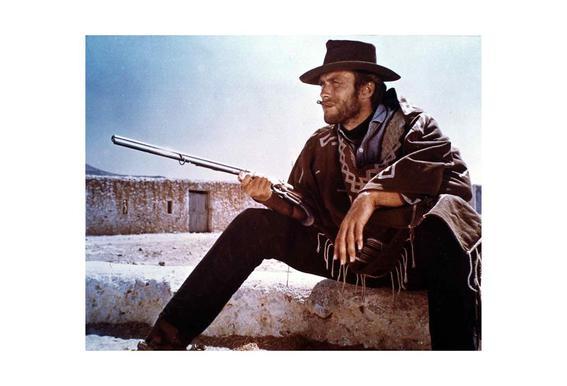Clint Eastwood alu dibond
