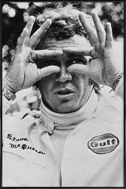 Steve McQueen in Le Mans, 1971 Framed Poster