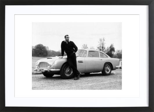 Sean Connery in Goldfinger, 1964 - Poster in Wooden Frame