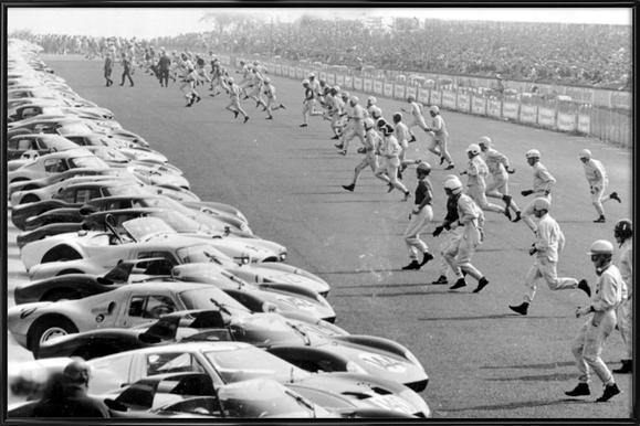 Start, Le Mans affiche encadrée