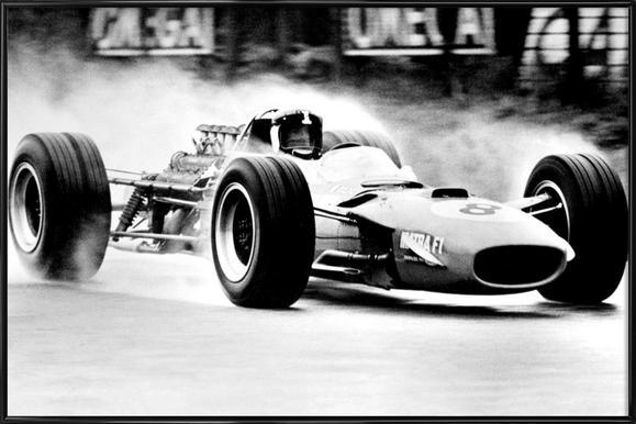 Formula 1 ingelijste poster