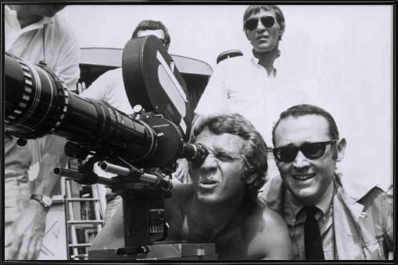 Steve McQueen behind the Camera Framed Poster