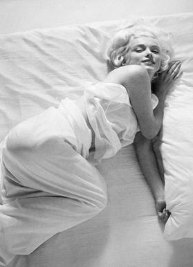 Marilyn Monroe in Bed Canvas Print