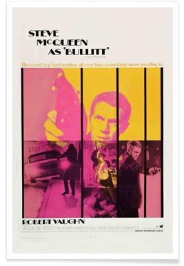 Affiche du film Bullitt, 1968 - Photographie affiche
