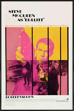 Bullitt, 1968 Movie Poster ingelijste poster