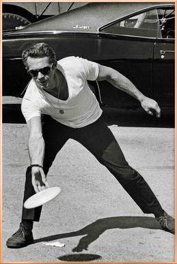 Steve McQueen Playing Frisbee