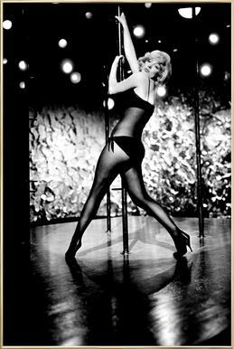 Marilyn Monroe Pole Dancing -Poster im Alurahmen