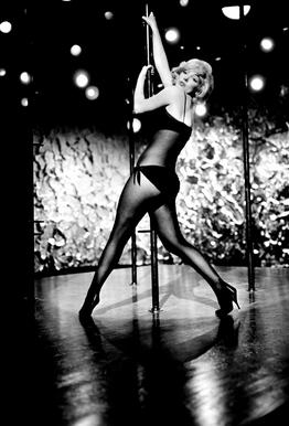 Marilyn Monroe Pole Dancing -Acrylglasbild