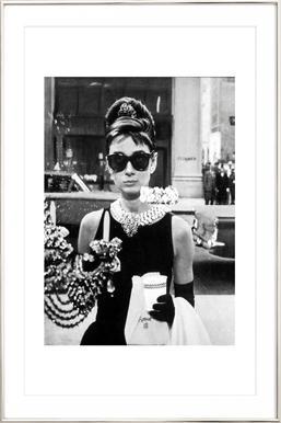 Audrey Hepburn in Breakfast at Tiffany's, 1961 - Poster in Aluminium Frame