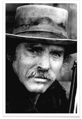 Schauspieler Burt Lancaster, 1972-Vintage-Fotografie -Poster