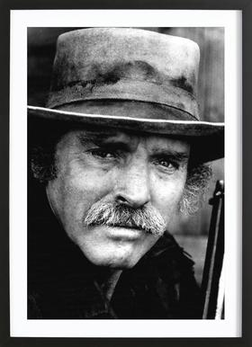 Actor Burt Lancaster, 1972 -Bild mit Holzrahmen