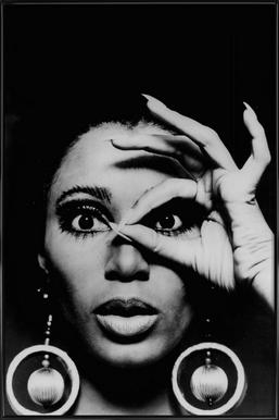 Donyale Luna, 1970 -Bild mit Kunststoffrahmen