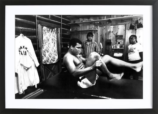 Muhammad Ali Exercising affiche sous cadre en bois