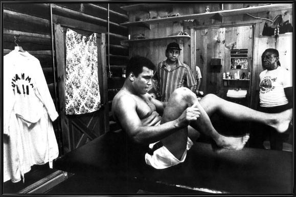 Muhammad Ali Exercising Framed Poster