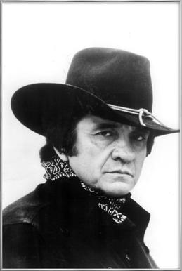 Country Singer, Johnny Cash -Poster im Alurahmen