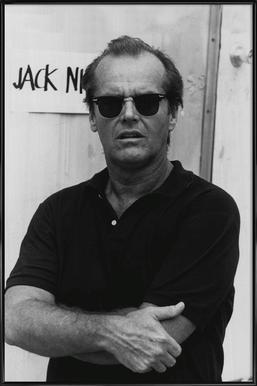Jack Nicholson in Sunglasses -Bild mit Kunststoffrahmen