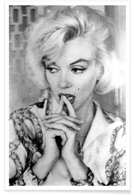Marilyn Monroe wearing a blouse -Poster