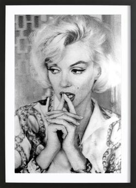 Marilyn Monroe wearing a blouse Framed Print
