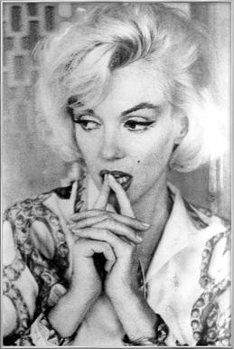 Marilyn Monroe wearing a blouse -Poster im Alurahmen