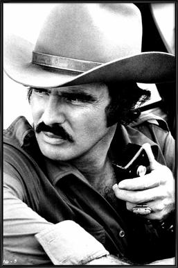 Burt Reynolds in 'Smokey and the Bandit' -Bild mit Kunststoffrahmen