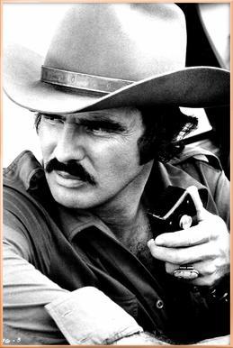 Burt Reynolds in 'Smokey and the Bandit' Poster in Aluminium Frame