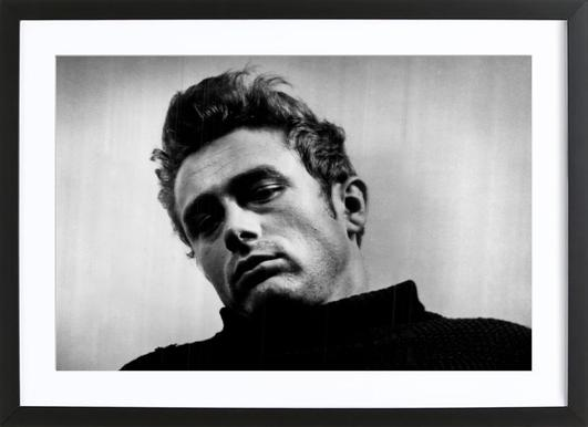 James Dean, 1955 Framed Print