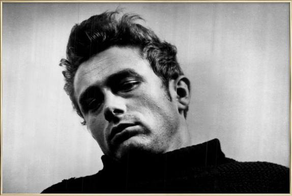 James Dean, 1955 -Poster im Alurahmen
