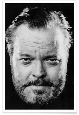 Vintage foto van Orson Welles poster