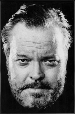 Orson Welles -Bild mit Kunststoffrahmen