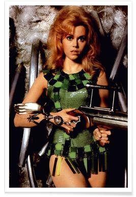 Jane Fonda as Barbarella Photograph Poster