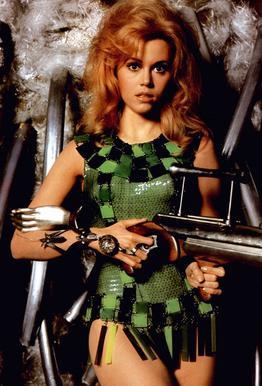 Jane Fonda as 'Barbarella' tableau en verre