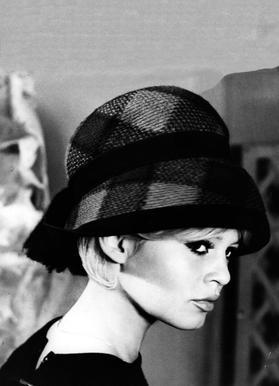 Brigitte Bardot with Hat Canvas Print