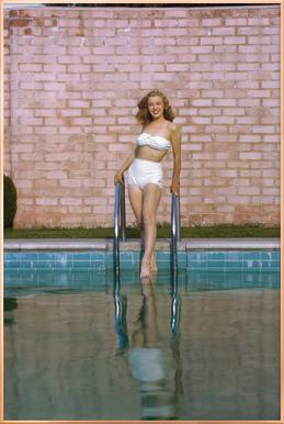 Young Marilyn Monroe Poolside I