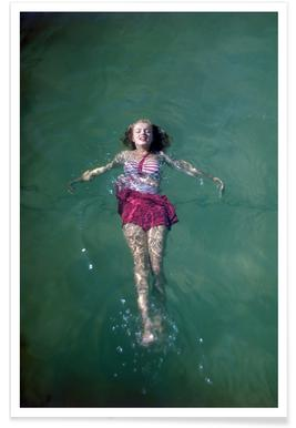 Young Marilyn Monroe in the Sea -Poster