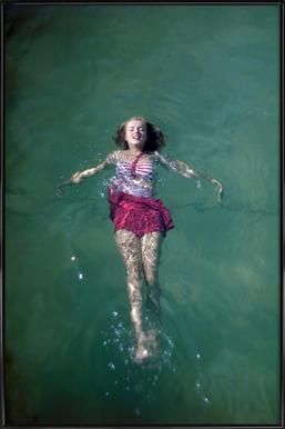 Young Marilyn Monroe in the Sea Framed Poster