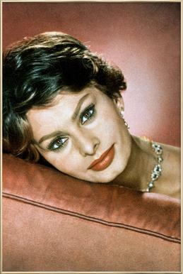Sophia Loren in the Sixties Poster in Aluminium Frame