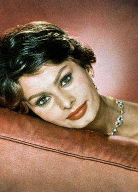Sophia Loren in the Sixties Canvas Print