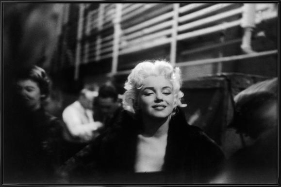 Marilyn Monroe on Subway ingelijste poster