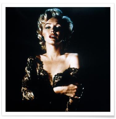 Marilyn Monroe wearing Black Lace affiche