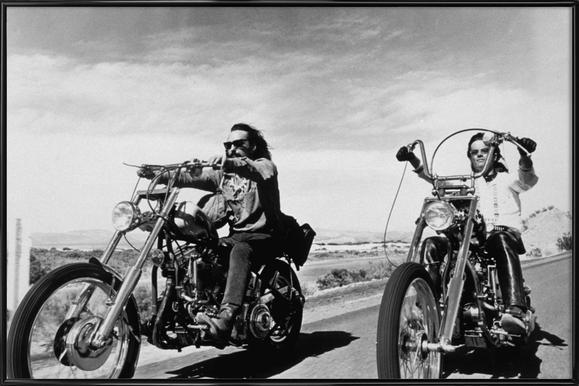 Dennis Hopper & Peter Fonda, 'Easy Rider' -Bild mit Kunststoffrahmen