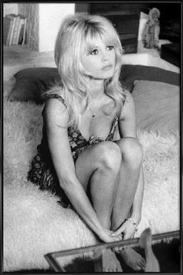 Brigitte Bardot, 'Dear Brigitte' -Bild mit Kunststoffrahmen