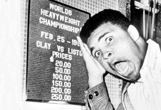 The New World Heavyweight Champion Cassius Clay, 26 February 1964 Aluminium Print