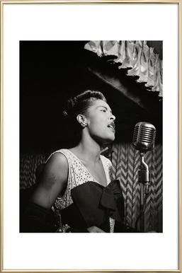 Billie Holiday, New York 1946 Poster in Aluminium Frame