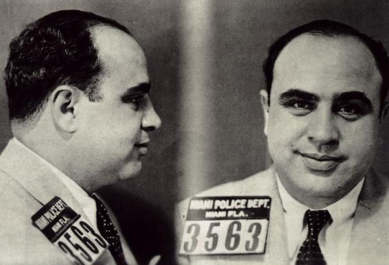 Al Capone's Mugshot Impression sur alu-Dibond