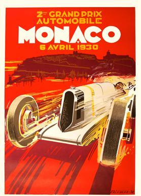 Vintage Monaco 6 April 1930 Canvas Print